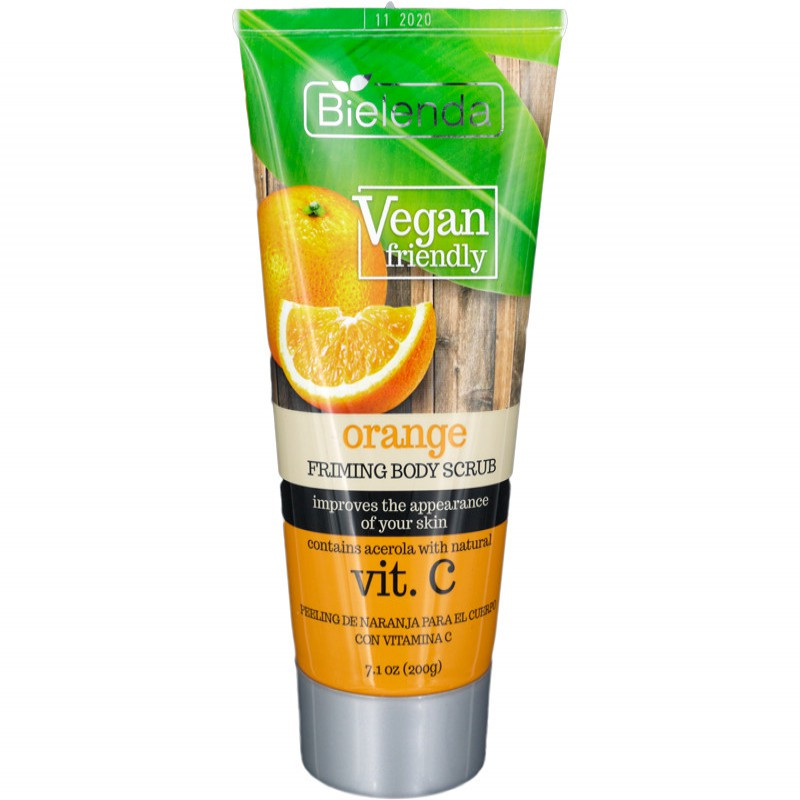 bielenda VEGAN FRIENDLY ORANGE BODY SCRUB WITH VITAMIN C